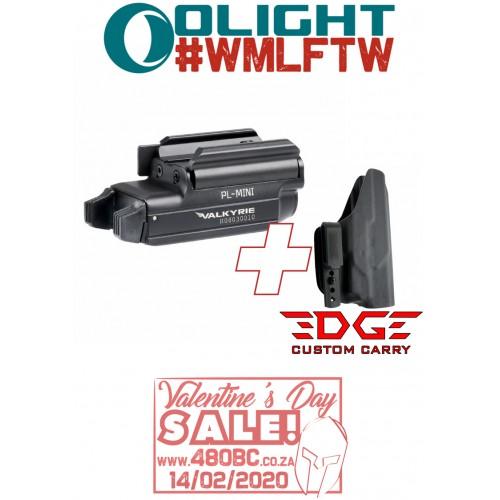 Olight PL Mini + Edge Custom Carry IWB Holster CZ P07
