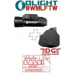 Olight PL2 Valkyrie + Edge Custom Carry OWB Holster Glock 17/19/22/23