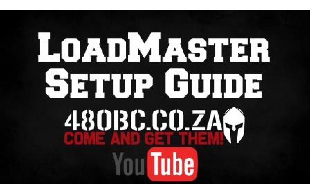 The 480BC LoadMaster Setup Guide