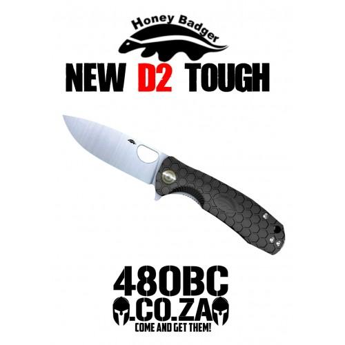 Honey Badger Medium Flipper - D2 Steel - Black